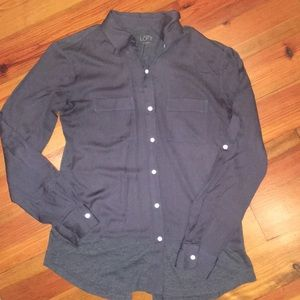 Blueish Gray Button Down Top